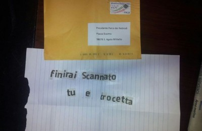 Spari contro auto presidente Parco dei Nebrodi, ecco lettera anonima