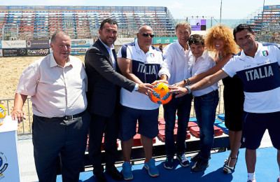Catania, Italy - August, 24 Euro Beach Soccer League Superfinal Catania 2016 at DomusBet arena on August 24, 2016 in Catania, Italy. (Photo by Lea Weil)