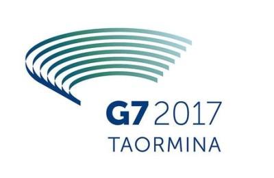 +++ATTENZIONE LA FOTO NON PUO? ESSERE PUBBLICATA O RIPRODOTTA SENZA L?AUTORIZZAZIONE DELLA FONTE DI ORIGINE CUI SI RINVIA+++ Il logo del G7, in programma a Taormina a marzo del prossimo anno, svelato in un tweet dal presidente del Consiglio Matteo Renzi.   Roma, 21 ottobre 2016. ANSA/ TWITTER