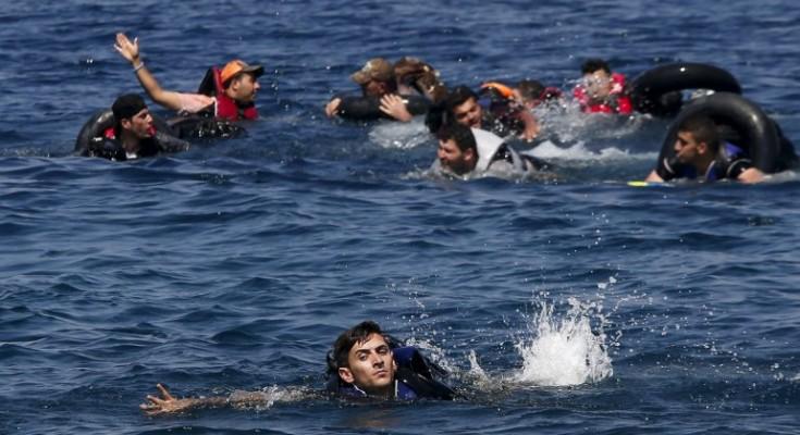 Migranti-naufragano-nel-mar-Egeo