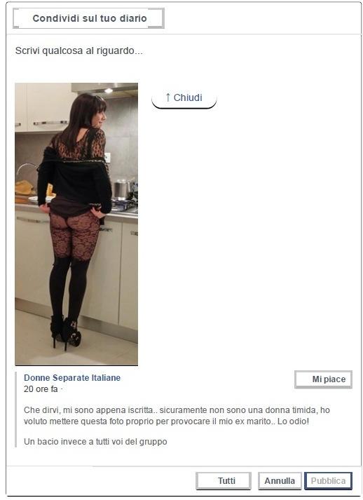 Donne separate italiane condivisione