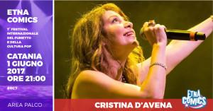 Annuncio Cristina D'Avena ad Etna Comics 2017 copy