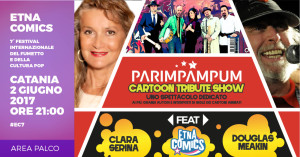 Annuncio Parimpampum-Clara Serina-Douglas Meakin ad Etna Comics 2017 copy