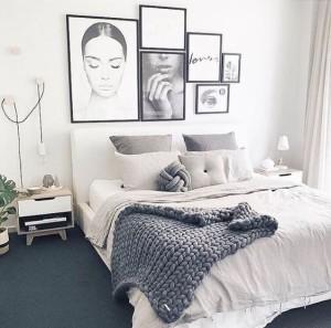 bed grey