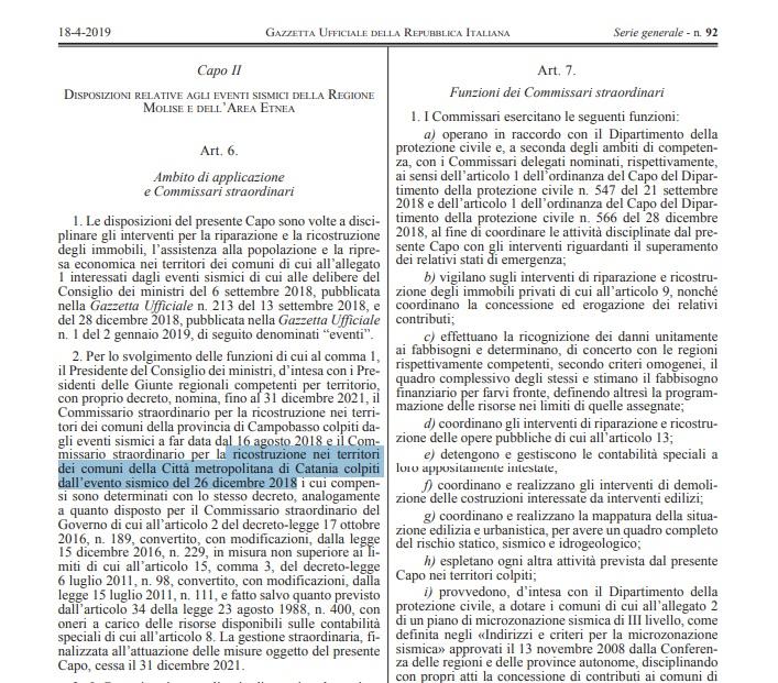 Terremoti GU art 6 comma 2