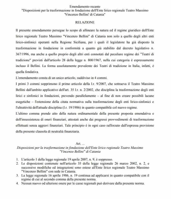 Emendamento conversione in fondazione