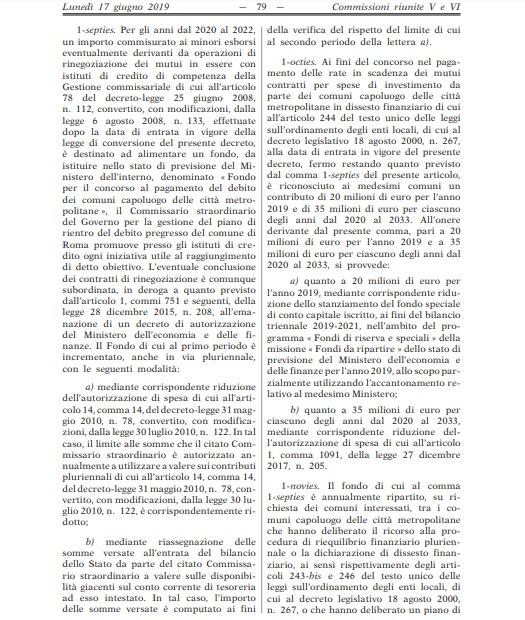 Decreto Crescita emendamento